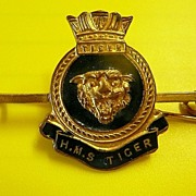 Royal Navy - H.M.S TIGER  - Tie Pin Clip