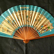 BOAC Advertising Paper Fan