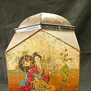 """Victorian """"VICTORY V Gums & Lozenges"""" Oriental Themed Sweets Tin"""