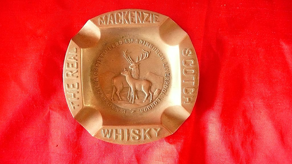 'The Real McKenzie Scotch Whisky' Advertising Ashtray