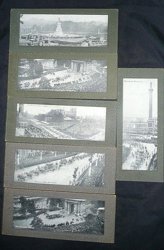 SET of Six 'Panoramic' Cards Edward VII Coronation