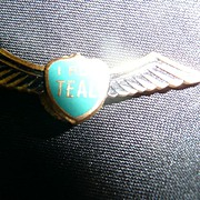 SOLD TEAL Airlines New Zealand 'I Fly Teal' Wings Badge