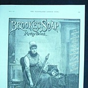 BROOKES Monkey Brand SOAP - Original Full Page Advert Illustrated London News May1890