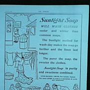 SUNLIGHT Soap - original Full Page from THE SPHERE 1905