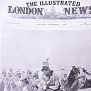 Front Page From The London Illustrated News Sept 7th 1895 'The Charge of The Light Dragoons at Corunna'