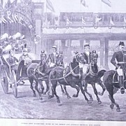 'German Army Manoeuvres' Full Page from The London Illustrated News 1895