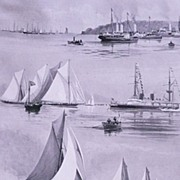 'The COWES REGATTA Week' Full Page from The London Illustrated News August 1895