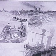 'The NAVAL Manoeuvres - Torpedo Practice'  'Full Page from The London Illustrated News August