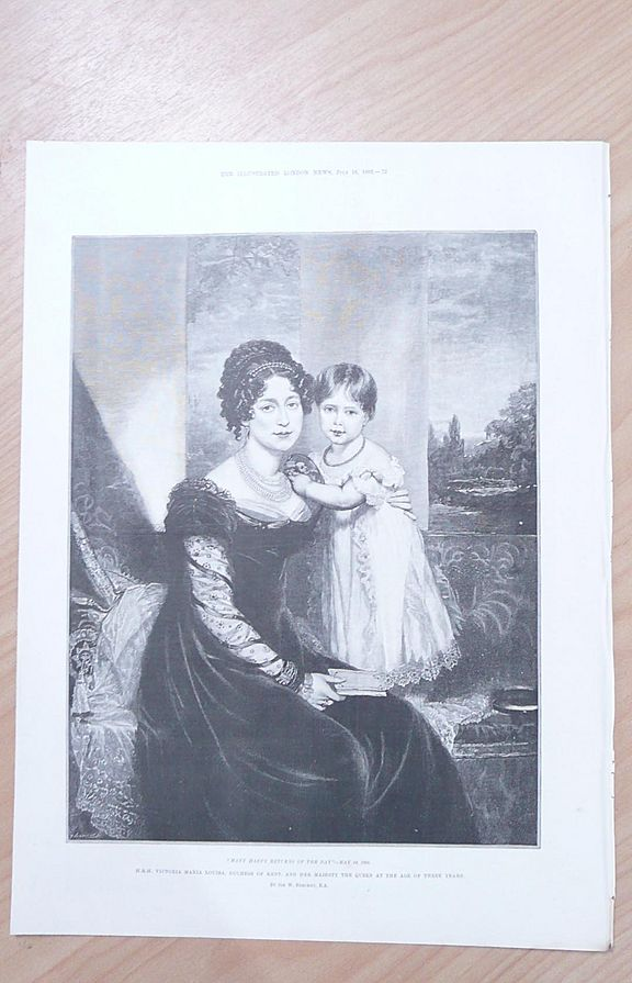 H.R.H. Duchess of Kent & Her Majesty The Queen Aged 3 Years 1892 By The Duchess of York