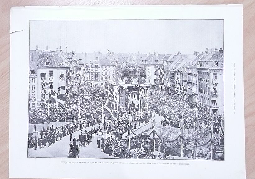 Three Full Pages of The Golden Wedding of The King & Queen of Denmark 1892