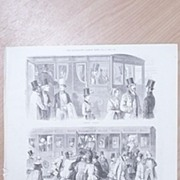 "Full Page Illustrated London News  1892 ""ENGLAND 1842 -Going to The Derby'"