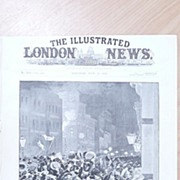 """Front Page Illustrated London News 1892  """"The General Election - A Night in Fleet Street"""""""