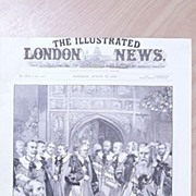 "Front Page Illustrated London News 1892  ""The New Peers"""