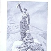 """Full Page Illustrated London News 1895  """"On The Summit"""" By R. Caton Woodville"""""""