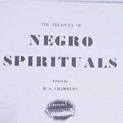 Black Americana Sheet  Music 'Negro Spirituals' 1953