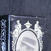 """An Early 1900's  """"In Mourning"""" Matchbox  Cover or Holder Circa 1900"""