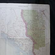 French Foreign Legion Indochina War 1954-55 Map 'Chantaburi'