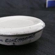Singleton's Eye Ointment - Victorian Stoneware Pot