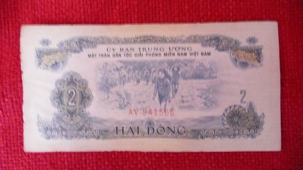 1966 Viet Cong Transition Note - VC   - Vietnam War
