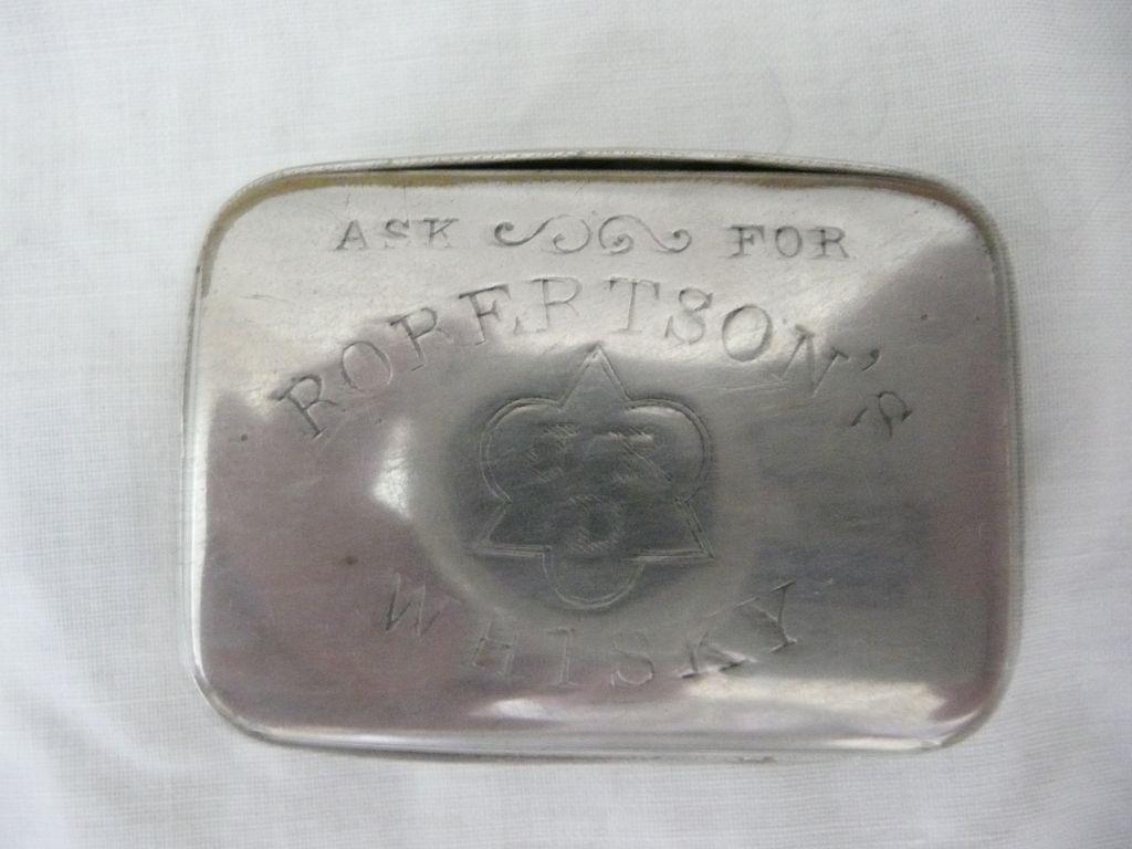 Old Advertising Vesta Case For  ROBERTSON'S  JRD Whisky