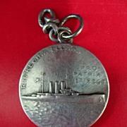 1907 Silver Medallion From  Italian Battleship R.N.REGINA ELENA