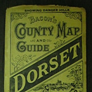 """1892 """"Bacon's """"DORSET Country Map & Guide"""