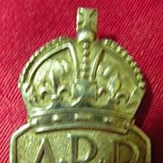 A.R.P. - Air Raid Precautions Warden's WWII Badge in Sterling Silver