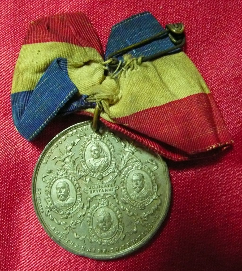 1897  Queen Victoria Jubilee Medal with Original Bow Ribbon