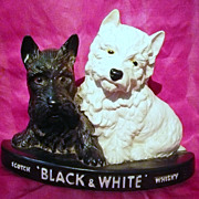 """Black & White Whisky """"Scotty Dogs"""" Advertising Display Piece"""