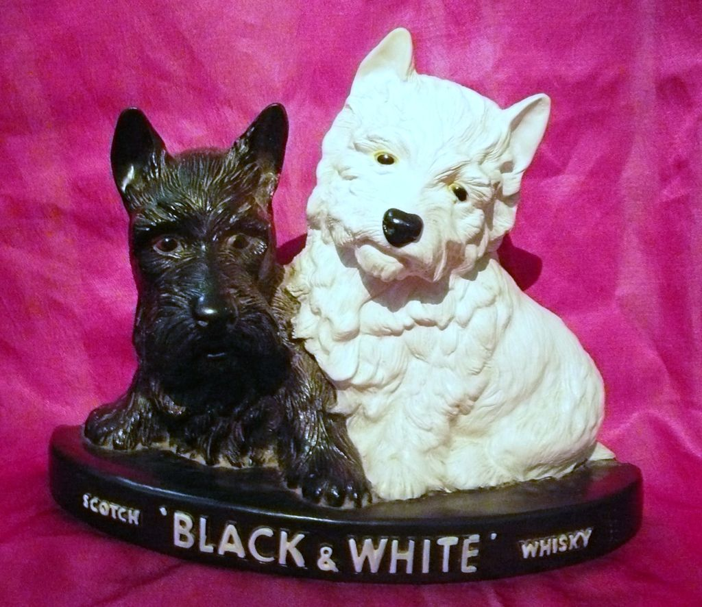 "Black & White Whisky ""Scotty Dogs"" Advertising Display Piece"