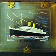 ORIENT Liner S.S. Orontes Souvenir Cigarette Case