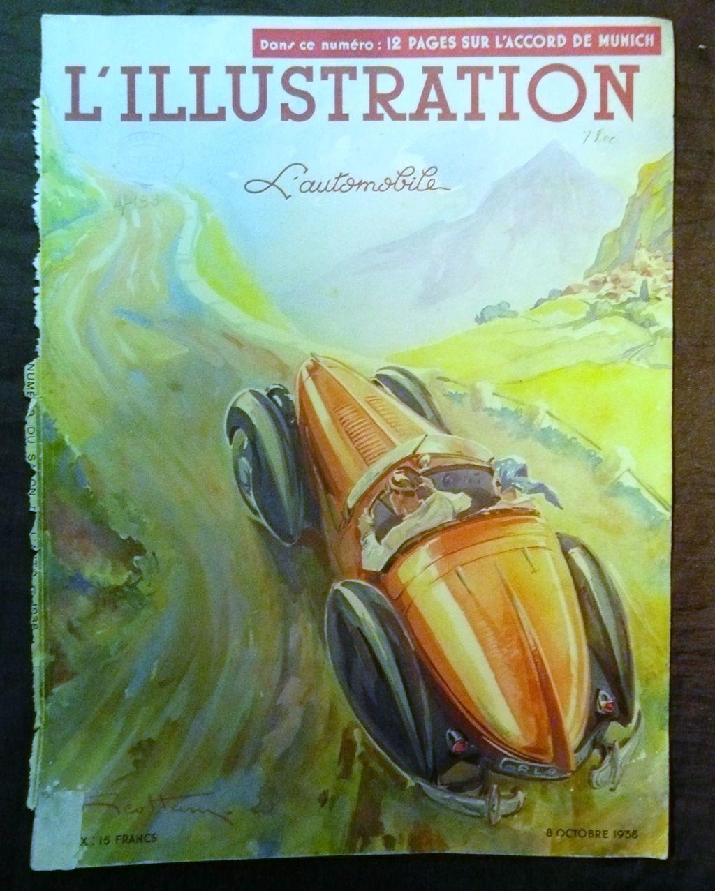 ORIGINAL Front Cover L ' Illustration French Magazine October 1938