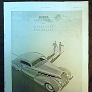 ORIGINAL DELARGE Advert  From L ' Illustration French Magazine January 1939