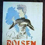 "SALE ORIGINAL ""ROISEN PARFUMS"" Advert From L ' Illustration French Magazine 1947"