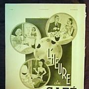 "SALE ORIGINAL ""CAFE DU BRESIL"" Advert From L ' Illustration French Magazine January1"