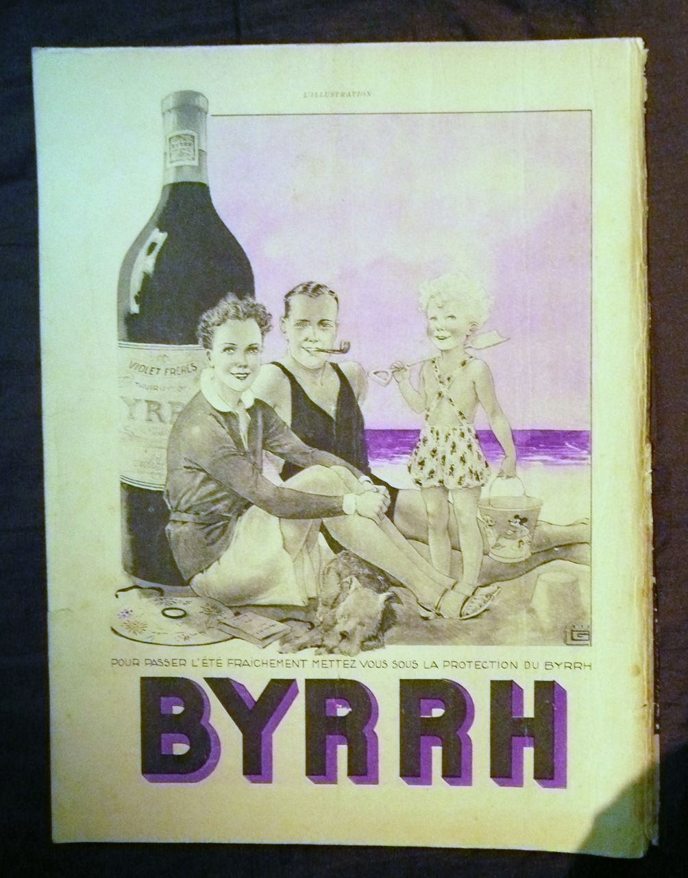 "ORIGINAL ""BYRRH APERITIF"" Advert From L ' Illustration French Magazine July 1938"