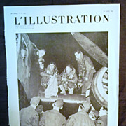 "SALE ORIGINAL ""R.A.F. FEATURE PAGE' From L ' Illustration French Magazine March 1940"