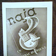 "SALE ORIGINAL ""NAJA Cigarettes""  Advert From L ' Illustration French Magazine Octobe"