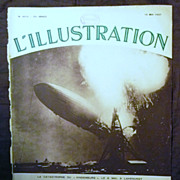 """SALE ORIGINAL """"HINDENBURG """" Front Cover  From L ' Illustration French Magazine May 1"""