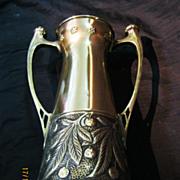 Fabulous Art Nouveau WMF Brass Vase Circa 1900
