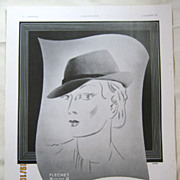 "SALE ORIGINAL ""Chapeaux FLECHET"" Advert From  L ' Illustration French Magazine  Octo"