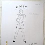 "SALE ORIGINAL ""UNIC"" Advert From  L ' Illustration French Magazine  December 1938"