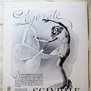 "SALE ORIGINAL ""SCANDALE"" Advert From  L ' Illustration French Magazine  February 194"