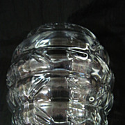 Lovely  & Unusual ART DECO Crystal Vase Circa 1930's