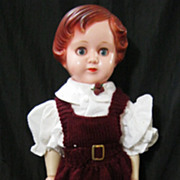 "Gorgeous BIG 23""  'OK KADER'  Plastic Doll 1950's"