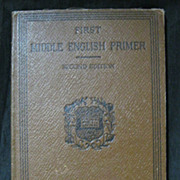 First  Middle English PRIMER  (2nd Edition) 1909