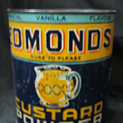 Large 4lbs EDMONDS Custard Powder Tin Circa 1940's-1950