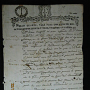 Chilean Legal Document Dated as  Sept. 1823