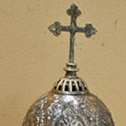 SALE A Superb Old Bronze Monstrance Ostensorium  of Byzantine Design