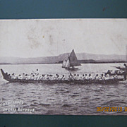 Native War Canoe On Lake Rotorua